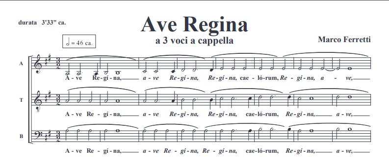 Marco Ferretti: Ave Regina